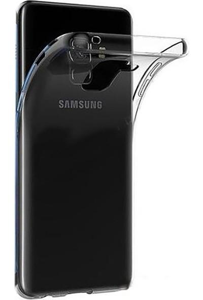 Samsung J8 Kılıf Antishock Silikon Köşeli Şeffaf Airbag Arka Kapak