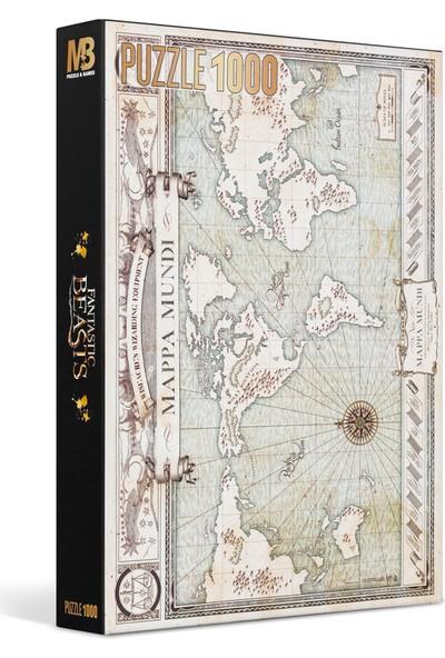 Wizarding World Fantastik Canavarlar 1000 Parça Dünya Haritası Puzzle