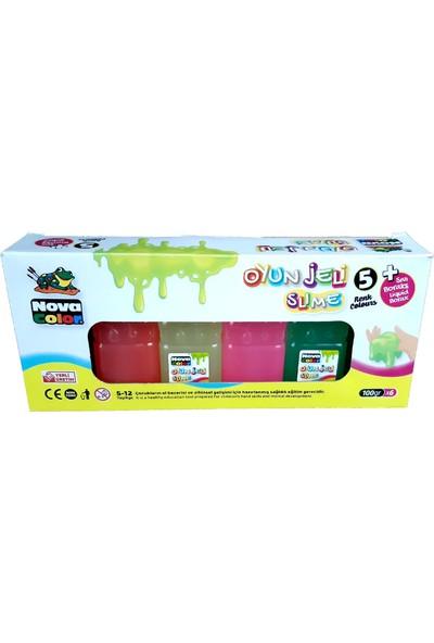 Nova Color Oyun Jeli Slime 5 Renk + Sıvı Boraks Liquid Borax