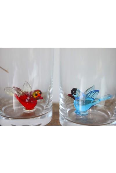 Adamodart Kuş Figürlü Kahve Yanı Su Bardağı