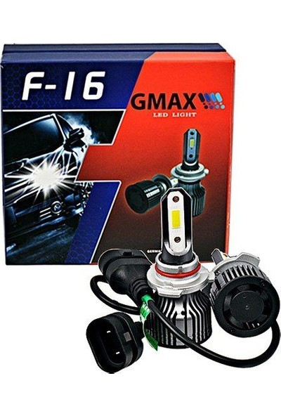 Gmax F16 Seri Mini Slim H4 LED Xenon - Beyaz