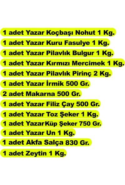Yazar Ramazan Paketi 13 Parça 12,75 kg