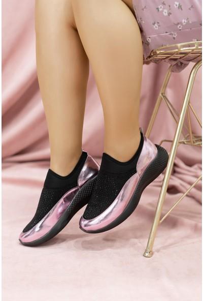Çaçaroz Ayakkabı Taşlı Günlük Büyük Numara Bayan Yürüyüş Spor Ayakkabısı