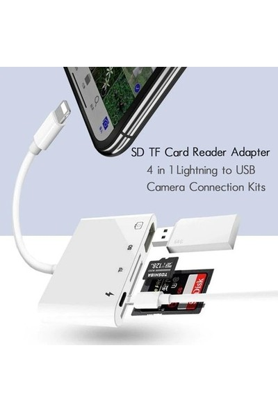 Daytona NK108L Apple iPhone Lightning To TF SD USB Dosya Aktarım Çevirici