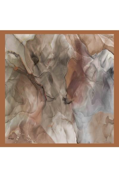 Belinda Kadın Ebruli Desenli Twil (Tivil) Eşarplar