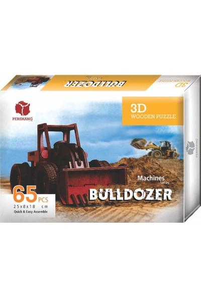 Pershang 2019014 Bulldozer / 65 Parça / 3 Boyutlu Ahşap Puzzle