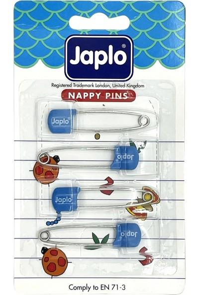 Japlo Emniyetli Çengelli Bebek Iğnesi 4'lü - Mavi