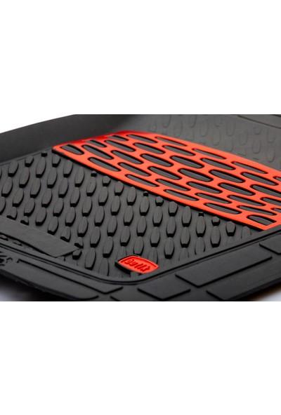 Team Car Nissan Juke Uyumlu Derin Havuzlu Krom Kırmızı 3D Paspas