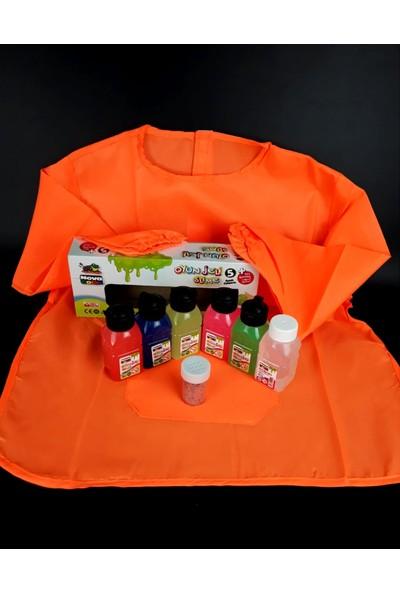 Nova Color Gen-Of Nova Color 5 Renk Slime Oyun Jeli ve Boraks + Boyama Önlüğü + Sim Seti
