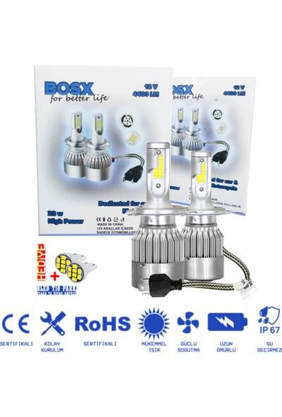 C9 Bosx Beyaz Vision Led / Xenon Far Ampulü 4400LM 6000K H4
