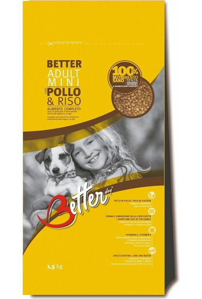 Better Tavuk Etli Küçük Irk Yetişkin Köpek Maması 1,5 kg Idili