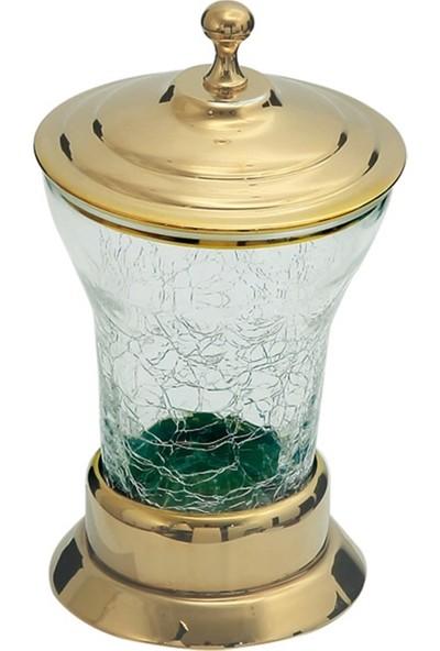 Paris Gold Set Üstü Pirinç-Çatlak Cam Pamukluk 7140