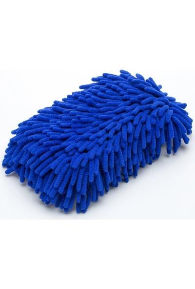 Gardenauto Microfiber Püsküllü Araba Yıkama Süngeri Mavi Renk