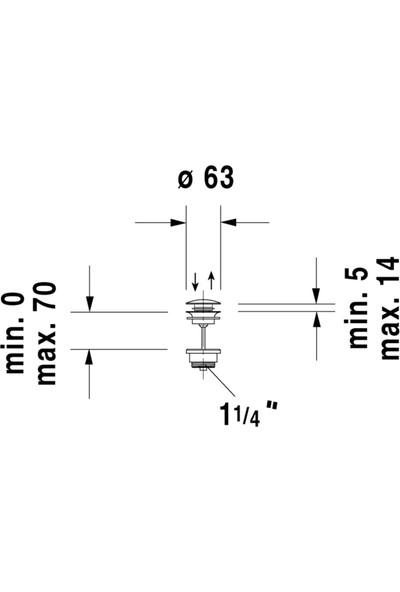 Duravit Bas-Aç Lavabo Sifon Kumandası 0050521000 (Push-Open Ventil)