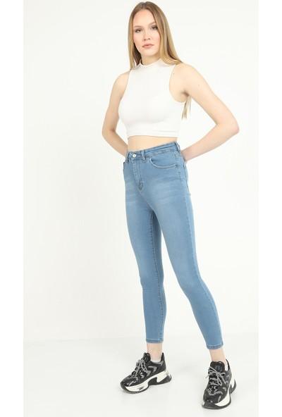 Manche Koyu Buz Skinny Kadın Denim Pantolon
