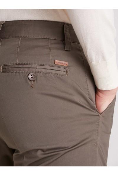 Dufy Haki Düz Erkek Pantolon - Regular Fıt