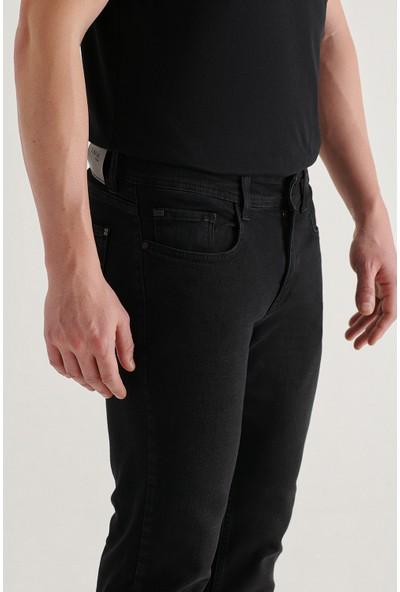 Avva Erkek Siyah Slim Fit Jean Pantolon E003512