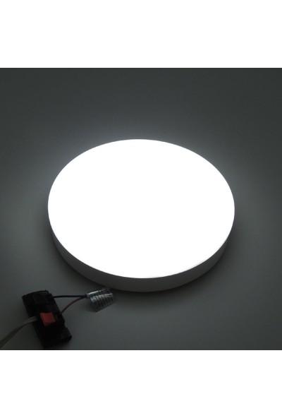 Sunlight Dış Mekan Yuvarlak Sıva Üstü 20W LED Panel Armatür Trafolu Beyaz