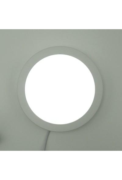 Sunlight Yuvarlak Sıva Üstü 25 Watt LED Panel Armatür Trafolu Beyaz Gün