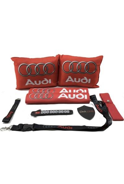 Audi Konfor Seti - Audi Oto Yastık Seti Kumaş - Audi Oto Boyun Yastığı Takımı