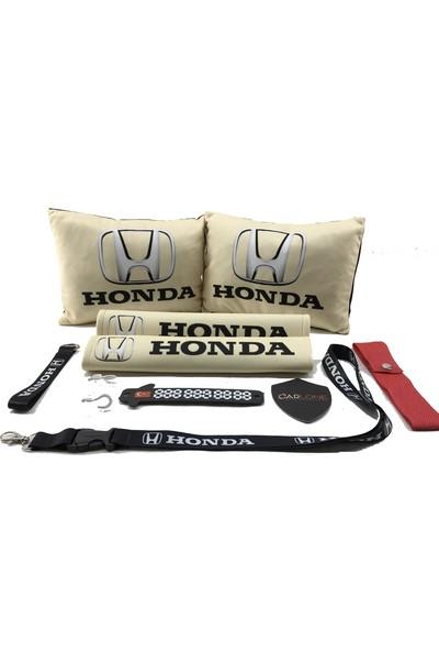 Honda Konfor Seti - Honda Oto Yastık Seti Kumaş - Honda Oto Boyun Yastığı Takım