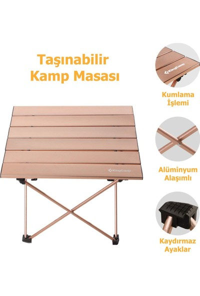 King Camp Table M U.light Katlanabilir Masa