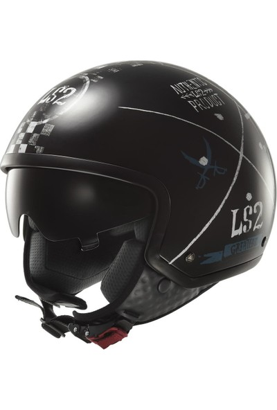 Ls2 OF561 Greatest Siyah Kask