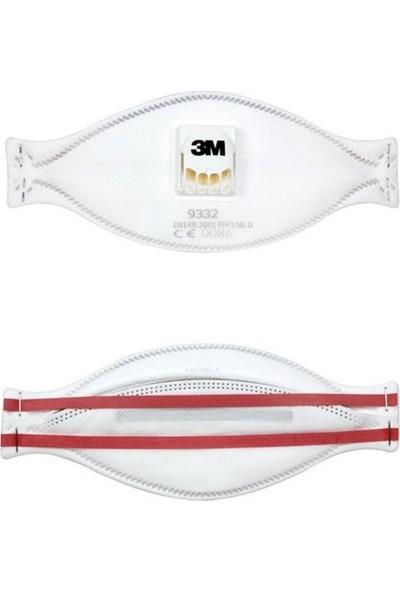 3m 9332 N99/95 Ffp3 Toz ve Solunum Maskesi 5 Adet Tekli Hijyenik Pakette