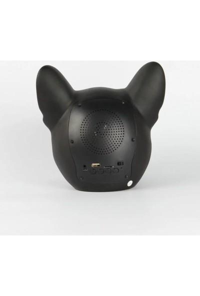 Koçak Elektronik Bluetooth Speaker Bulldog Tasarımlı Işıklı Ses Bombası Büyük Boy