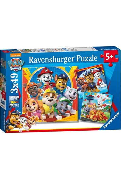 Ravensburger 3X49 Parça Puzzle Paw Patrol 050482
