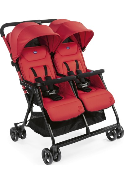 Chicco Ohlala 2 Twin Ultra Hafif Ikiz Bebek Arabası / Paprika