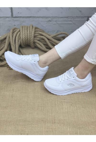 Parley Kadın Spor Ayakkabı 916 - Beyaz / Gümüş