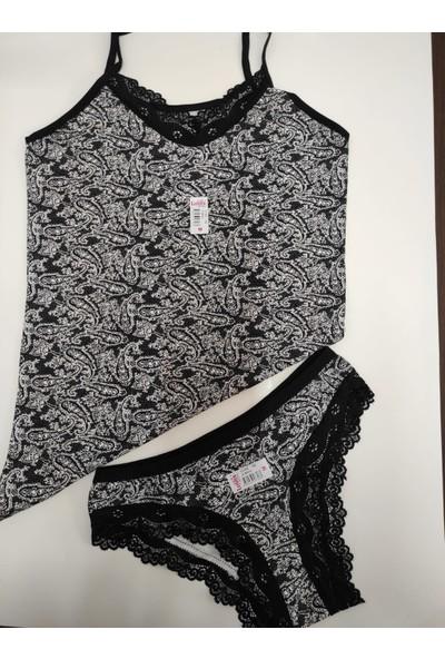 Moda Hitap Kadın Şal Desen Iç Giyim Takım
