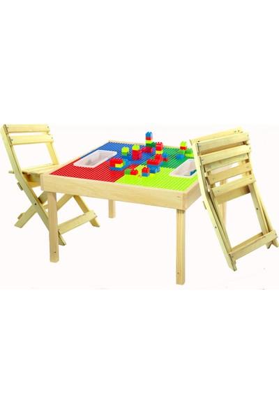 Ahşap Alem Katlanır Çocuk Sandalyesi Vernikli 1 Adet
