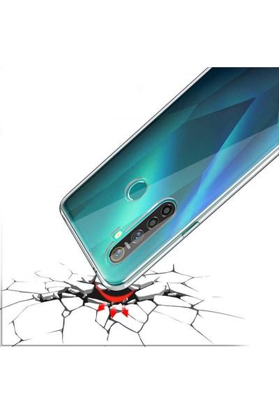 Vinn Mood Oppo Realme 6i Kılıf Antishock Silikon Köşeli Şeffaf Airbag Arka Kapak