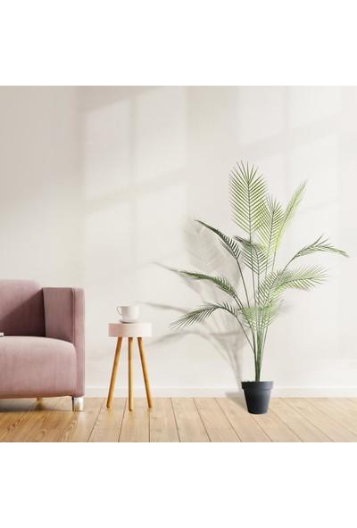 Nettenevime Yapay Ağaç Areka Ağacı Palmiye Ağacı Salon Bitkisi Yapay Areka 130 cm 12 Yaprak