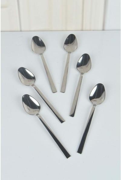Doğuş Mutfak Çay Kaşığı Çubuk Model Sade 12'li Kutu Paslanmaz Çelik