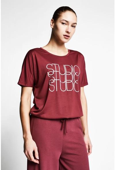Lescon Vişne Kadın Kısa Kollu T-Shirt 21B-2031
