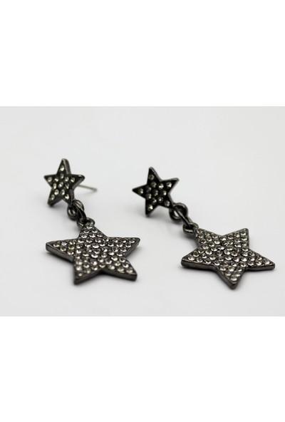 Siparix Zirkon Taşlı Yıldız Küpe