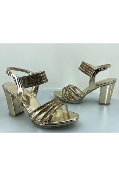 Daisy Kadın Topuklu Taşlı Abiye Ayakkabı