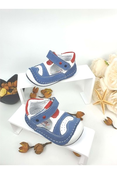 Rüzgar Bebe Hakiki Deri Çocuk Ayakkabısı - Rüzgar Bebe - Lacivert - 18 - NKT00038-LACİVERT-18