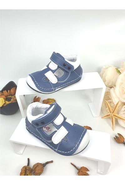Rüzgar Bebe Hakiki Deri Çocuk Ayakkabısı - Rüzgar Bebe - Lacivert - 18 - NKT00040-LACİVERT-18