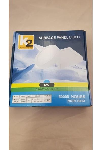K2 6W Sıva Üstü LED Spot Gün Işığı