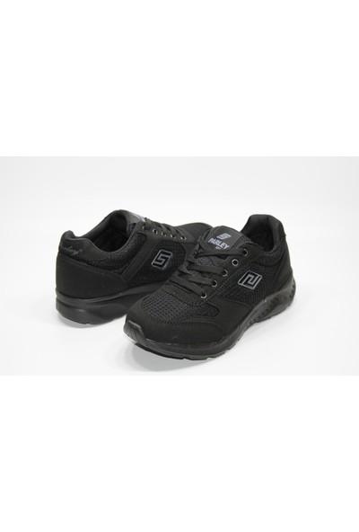 Parley Ultra Hafif Taban Bağcıklı Siyah Günlük Rahat Spor Ayakkabı