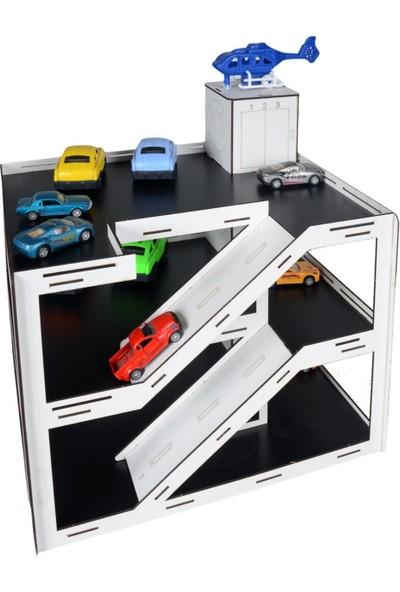 Hayal Oyuncak Ahşap Katlı Otopark Garaj Oyunu