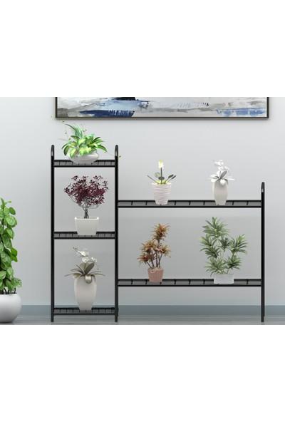 Uyan Ev Ürünleri Garden 5 Raflı Dekoratif Saksılık Çiçeklik