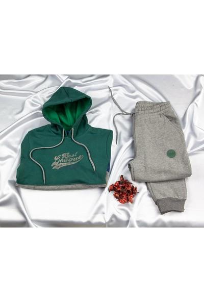 Elsima Erkek Çocuk 3iplik Kapşonlu Pijama Takımı