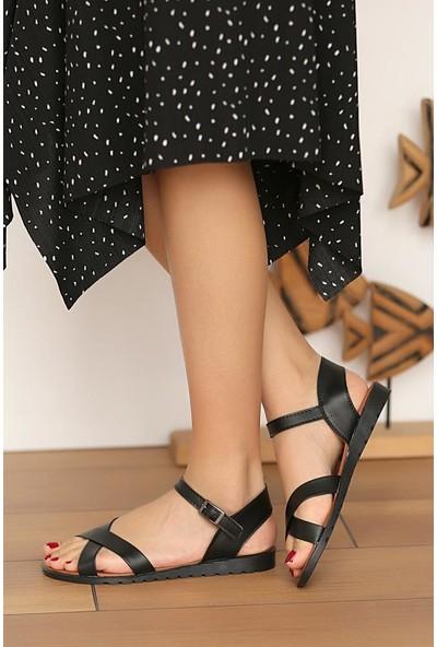 Pembe Potin Şık Kadın Sandalet 006-2000-21