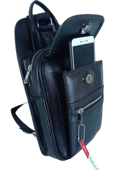 Traum Siyah Body Bag 4 Bölmeli Günlük Çapraz Çanta