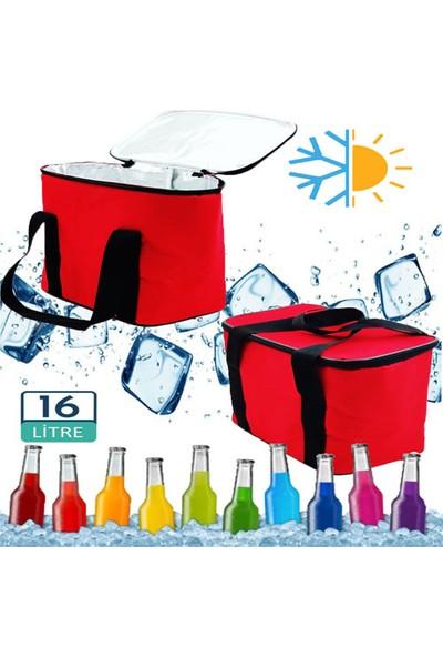 Carneil 16 Litre Kırmızı Sıcak Soğuk Koruma Sağlayan Termal Kamp Gıda Piknik Doğa Çantası